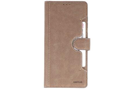 KAIYUE - Luxe Portemonnee Hoesje voor Samsung Galaxy Note 10 Lite - Grijs