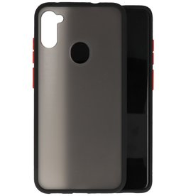 Samsung Galaxy A11 Hoesje Hard Case Backcover Telefoonhoesje Zwart