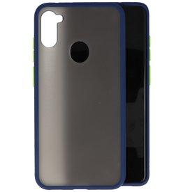 Samsung Galaxy A11 Hoesje Hard Case Backcover Telefoonhoesje Blauw