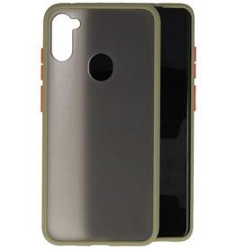 Samsung Galaxy A11 Hoesje Hard Case Backcover Telefoonhoesje Groen
