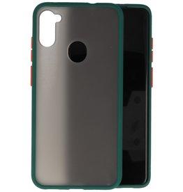 Samsung Galaxy A11 Hoesje Hard Case Backcover Telefoonhoesje Donker Groen