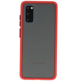 Samsung Galaxy S20 Hoesje Hard Case Backcover Telefoonhoesje Rood