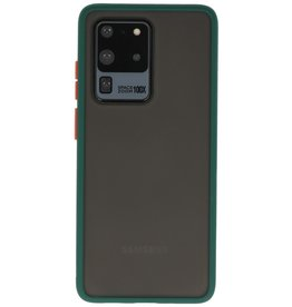 Kleurcombinatie Hard Case Samsung Galaxy S20 Ultra 5G Donker Groen