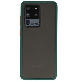 Samsung Galaxy S20 Ultra Hoesje Hard Case Backcover Telefoonhoesje Donker Groen