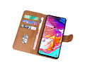 Bookstyle Wallet Cases Hoesje voor Samsung Galaxy M21 Bruin
