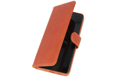 Rico Vitello Echt Lederen Booktype Hoesje voor Samsung Galaxy S20 Plus - Bruin