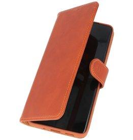 Rico Vitello Echt Lederen Booktype Hoesje Samsung Galaxy S20 Ultra - Bruin