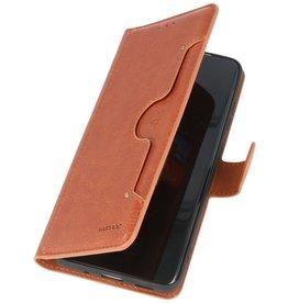 KAIYUE - Luxe Portemonnee Hoesje Samsung Galaxy A31 - Bruin