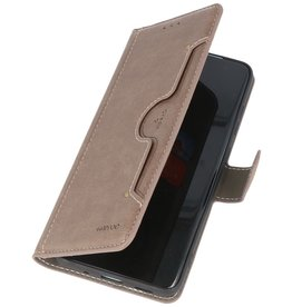 KAIYUE - Luxe Portemonnee Hoesje Samsung Galaxy A31 -  Grijs