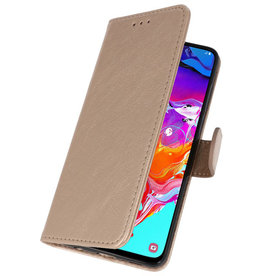 Bookstyle Wallet Cases Hoesje Samsung Galaxy A71 Goud