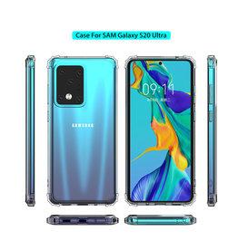 Schokbestendig Back Cover Hoesje Samsung Galaxy S20 Ultra Transparant