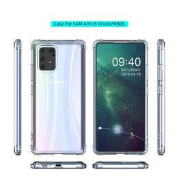 Schokbestendig Back Cover Hoesje Samsung Galaxy S10 Lite Transparant