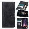 Zakelijke Book Case Telefoonhoesje OnePlus 8 - Zwart