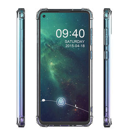 Schokbestendig Back Cover Hoesje Samsung Galaxy A21 Transparant