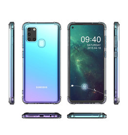 Schokbestendig Back Cover Hoesje Samsung Galaxy A21s Transparant