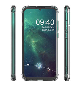 Schokbestendig Back Cover Hoesje Huawei P40 Lite Transparant
