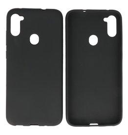 BackCover Hoesje Color Telefoonhoesje Samsung Galaxy A11 Zwart