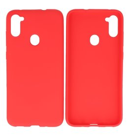 BackCover Hoesje Color Telefoonhoesje Samsung Galaxy A11 Rood