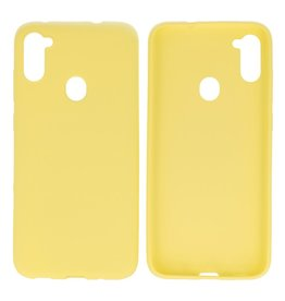 BackCover Hoesje Color Telefoonhoesje Samsung Galaxy A11 Geel