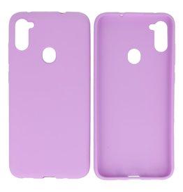BackCover Hoesje Color Telefoonhoesje Samsung Galaxy A11 Paars