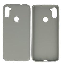 BackCover Hoesje Color Telefoonhoesje Samsung Galaxy A11 Grijs