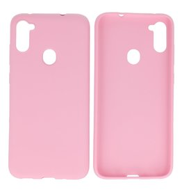 BackCover Hoesje Color Telefoonhoesje Samsung Galaxy A11 Roze