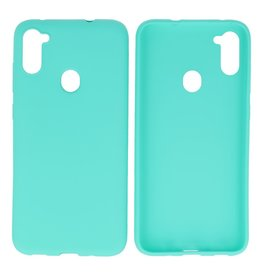 BackCover Hoesje Color Telefoonhoesje Samsung Galaxy A11 Turquoise