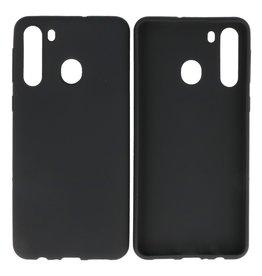 BackCover Hoesje Color Telefoonhoesje Samsung Galaxy A21 Zwart