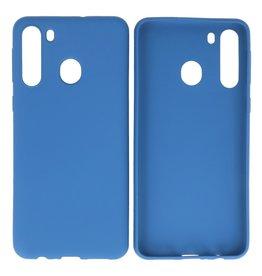 BackCover Hoesje Color Telefoonhoesje Samsung Galaxy A21 Navy