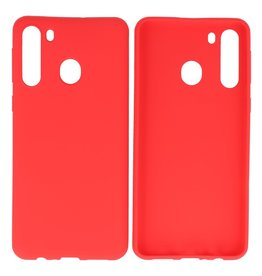 BackCover Hoesje Color Telefoonhoesje Samsung Galaxy A21 Rood