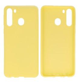 BackCover Hoesje Color Telefoonhoesje Samsung Galaxy A21 Geel