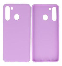 BackCover Hoesje Color Telefoonhoesje Samsung Galaxy A21 Paars