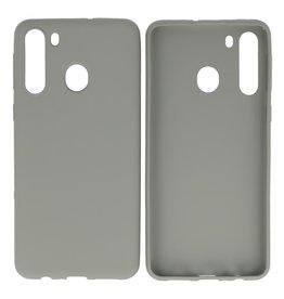 BackCover Hoesje Color Telefoonhoesje Samsung Galaxy A21 Grijs