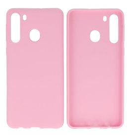 BackCover Hoesje Color Telefoonhoesje Samsung Galaxy A21 Roze