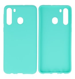 BackCover Hoesje Color Telefoonhoesje Samsung Galaxy A21 Turquoise