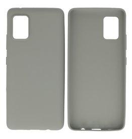 BackCover Hoesje Color Telefoonhoesje Samsung Galaxy A31 Grijs