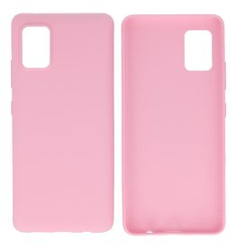 BackCover Hoesje Color Telefoonhoesje Samsung Galaxy A31 Roze
