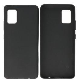 BackCover Hoesje Color Telefoonhoesje Samsung Galaxy A41 Zwart