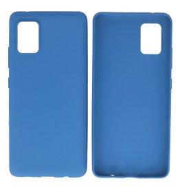 BackCover Hoesje Color Telefoonhoesje Samsung Galaxy A41 Navy