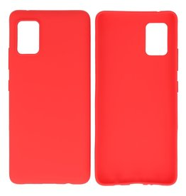 BackCover Hoesje Color Telefoonhoesje Samsung Galaxy A41 Rood