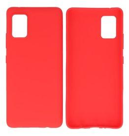 BackCover Hoesje Color Telefoonhoesje Samsung Galaxy A41 Rood