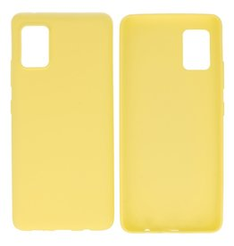BackCover Hoesje Color Telefoonhoesje Samsung Galaxy A41 Geel