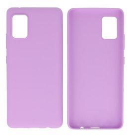 BackCover Hoesje Color Telefoonhoesje Samsung Galaxy A41 Paars