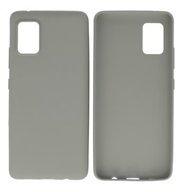 BackCover Hoesje Color Telefoonhoesje Samsung Galaxy A41 Grijs