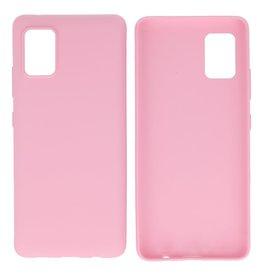 BackCover Hoesje Color Telefoonhoesje Samsung Galaxy A41 Roze