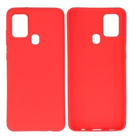 BackCover Hoesje Color Telefoonhoesje Samsung Galaxy A21s Rood
