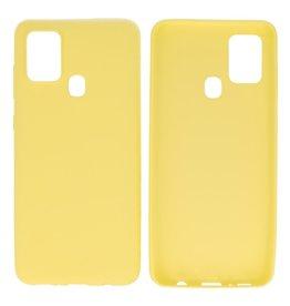 BackCover Hoesje Color Telefoonhoesje  Samsung Galaxy A21s Geel