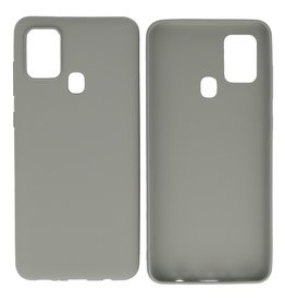 BackCover Hoesje Color Telefoonhoesje Samsung Galaxy A21s Grijs