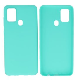 BackCover Hoesje Color Telefoonhoesje Samsung Galaxy A21s Turquoise