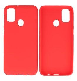 BackCover Hoesje Color Telefoonhoesje Samsung Galaxy M31 Rood